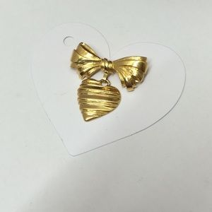 Vintage Avon Bowl & Heart Brooch